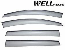 WellVisors Side Window Visors Deflectors W/ Black Trim For 06-13 Subaru Tribeca