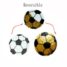 Football Reversible Change Color Sequins Sew On Patches Diy Applique Crafts Gd