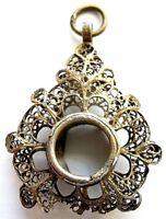 Schutzamulett Pilger Amulett Anhänger Reliquienkapsel 18.Jh. Silber 12 Lot