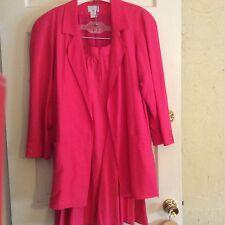 Georgiou 100% Silk Jacket And Skirt Suit