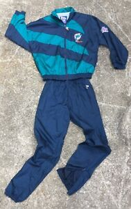 vintage PRO PLAYER Miami Dolphins Track Windbreaker Suit youth women's men's
