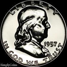 1957 Franklin Half Dollar ~ GEM Proof Uncirculated ~ 90% Silver US Coin