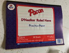 Pacon D'Nealian Ruled News Practice Paper Writing Lines Paper 50 sheets Pk K