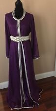 bridal puple designer Mousseline Moroccan Caftan/Kaftan For Hijab Wedding formal