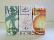 "Guerlain Aqua Allegoria Pamplelune, Ylang Vanille, Herba Fresca 3 Boxed Mini"""