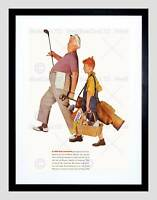 ADVERTISEMENT GOLF FOOD KITCHEN CEREALS BLACK FRAMED ART PRINT PICTURE B12X6167