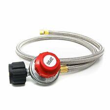 4 Ft 0-20 Psi Hose Qcc Propane High-Pressure Adjustable Regulator Gas Bbq Grill