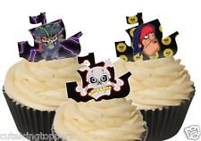 12 PRE CUT EDIBLE RICE WAFER PAPER PIRATE SHIP SHAPE CUPCAKE PARTY TOPPERS