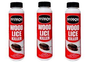 Pack 3 of Woodlice Killer Nippon Woodlice Killer 150g Kills Lice Fast Action