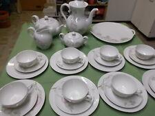 Philipp Rosenthal Mod. Teeservice Kaffee Eierbecher 37tlg Rosendekor Jugendstil