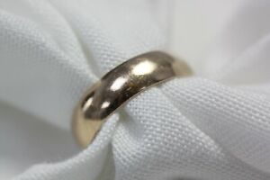 14ct Rose Gold Wedding Band 6.1g Size S Ring - 0509001