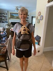 NWOB Outward Hound Front Carrier Backpack Carrier Closure Black Small Pets