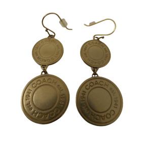 Coach Daphne  Double Snaphead charms drop Chandelier earrings Very Rare NWOT