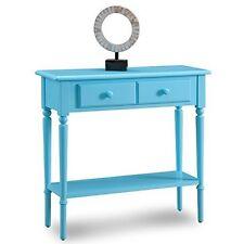 Leick Furniture  Regatta Blue Coastal Narrow Hall Stand/Sofa TableW/  Shelf