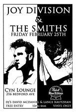 The Smiths / Joy Division tour poster print A4 Size