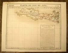 ILE DE JAVA JAKARTA carte geographique de VANDERMAELEN 1827 old antique map