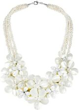 Mix Floral Bouquet Cluster Mother Of Pearl And Cultured Freshwater Pearl