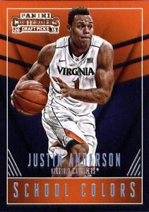 2015-16 Panini Contenders Draft Picks SCHOOL COLORS #22 Justin Anderson