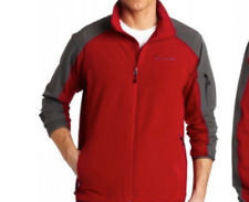 NEW COLUMBIA SHADOW HEIGHTS OMNI TECH SOFTSHELL JACKET MENS M RED GRAY FREE SHIP