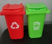 35*30mm Dollhouse Mini Trash Can Garbage Bin Furniture Kid Toy Decor Blue