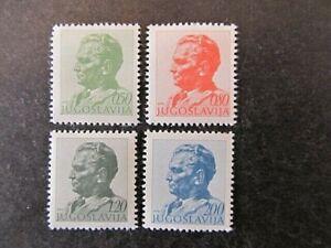 YUGOSLAVIA, SC# 1193, 1196, 1198 & 1201, PRESIDENT TITO (1974) MINT