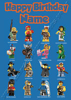 Lego Minifigures - Personalised Birthday Card Son Grandson Nephew Brother Friend