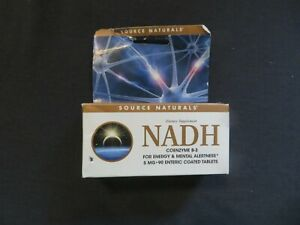 Source Naturals NADH For Energy & Mental Alertness 5 mg 90 Tablets *4