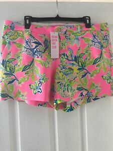 NWT LILLY PULITZER Callahan Knit Short Multi Squeeze The Day 16 Free Ship