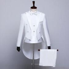 Mens Suit Prom Tuxedo Tailcoat Jacket Vest Pants Dinner Wedding Groom Dress