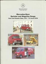 MERCEDES BENZ SPRINTER AND MEGA VAN,TRUCK CHASSIS CABS SALES BROCHURE MAY 1995