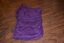 D9- Studio Y Purple One Shoulder Top/Tunic Size S