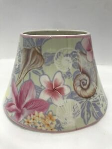 """Yankee Candle Jar Topper Shade Flower & Seashell 2012 Multicolor 6"""" Wide 4"""" Tall"""