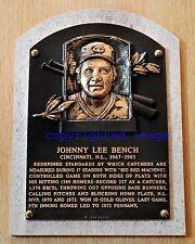 Johnny Bench 1967-83 Cincinnati Reds HOF'er 1989  Color 8x10 HOF plaque