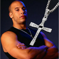 NEW Fashion Unisex's Men Silver plated Cross Pendant Necklace Chain Sliver Gift