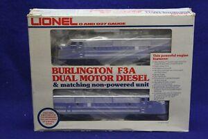 Lionel Burlington F3A Dual Motor Diesel & Matching Dummy Unit 6-8054 Engine Loco