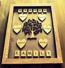 Personalised Family Tree Photo Frame Christmas Gift - Mum Dad Sister Brother