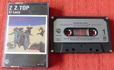 ZZ TOP CASSETTE TAPE - EL LOCO - PAPER LABELS