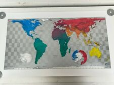 The Future Mapping Company Large Colour World Wall Map 58cm x 102cm Edition 003