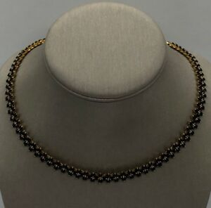 18k Gold Plated Handmade Necklace Natural Blue Sapphire ~26.00 tcw