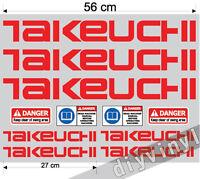 TAKEUCHI Stickers Decals Mini Digger Excavator machine pelle excavateur Bagger