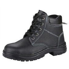 VI Men's Safety Shoes Embossed Leather Waterproof Anti Puncture Ankle Boots