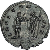 AURELIAN 272AD Siscia Authentic Genuine Ancient Roman Coin JUPITER Globe i65751