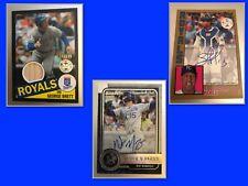 Kansas City Royals 20 Card Lot - Guaranteed Auto Or Relic - Brett, Perez & More
