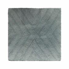 Nate Berkus Textured Stripe Bath Rug, Aqua Gray - 24 x 24 Square, NWT