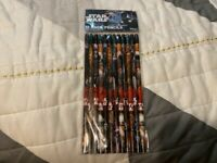 NEW STAR WARS 12 PACK PENCILS NO 2 NON-SHARPENED