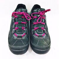 Clarks Wave Walk Women's Size 8.5 M Gray Pink Walking Outdoor Comfort Sneakers