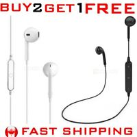 Wireless Bluetooth Sport Earphone Headphone Control Mic iPHONE LG Samsung NO BOX