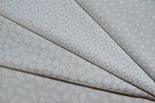 Lot de 4 coupons de tissus patchwork Moda gris très clairs 24x55cm