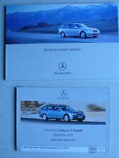Prospekt Mercedes C-Klasse T-Modelle S 203, 2.2001, 66 Seiten + Preisliste 1.01
