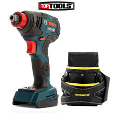 Bosch GDX 18 V-200 C BL Impact Wrench/Driver + 2 Pocket Screw Nail Fixing Pouch